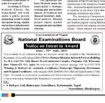Notice on Intent to Award 2078 Shrawan 14