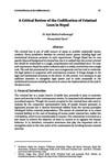 Review of codification of Nepali criminal law / Pradhananga, Rajit Bhakta in NJA Law Journal (v.8 : 1 Jan to Dec 2014)